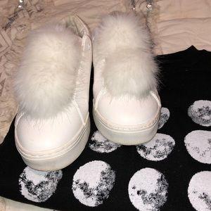 SAM EDELMAN faux fur sneakers